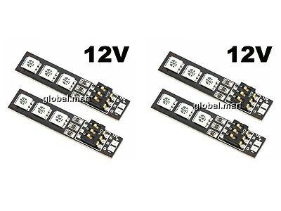4x RGB 5050 12V LED Lights Board 7 Color DIP Switch for QAV250 CC3D Miticopter