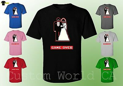 Men T-Shirt - Game Over Groom And Bride