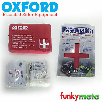 Oxford Universal First Aid Kit Motorbike Cycle Underseat Multi Travel Car Pouch