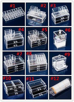 P03 Jewelry Storage Drawers Cosmetic Organiser Acrylic Cabinet Box Makeup Case