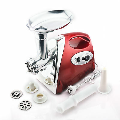 Red Color Stainless Steel 2800W Electric Meat Food Grinder AU