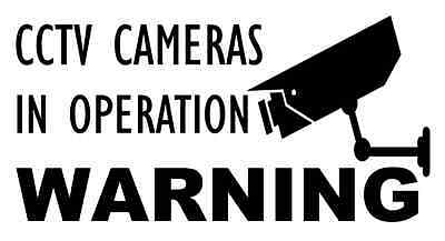 5 x CCTV Cameras In Operation Security Warning Camera Sign Window Stickers