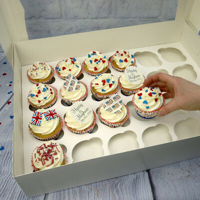 Deep 24 Cavity Cupcake Box With Insert & Clear Lid
