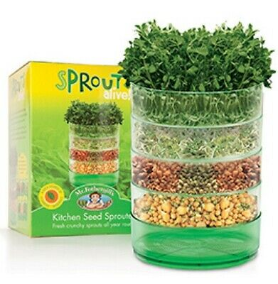 Kitchen Seed Sprouter 4 Tier / Tray + FREE SEED PACK - For Sprouts / Microgreens