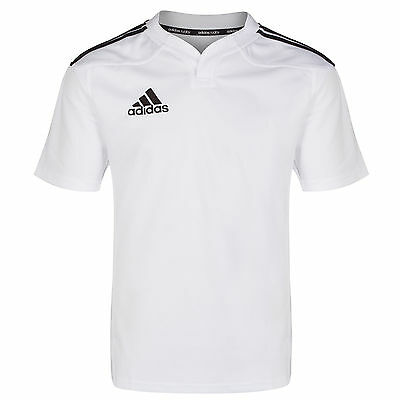 adidas Performance Mens 3 Stripe Rugby Jersey Training T-Shirt White G70034