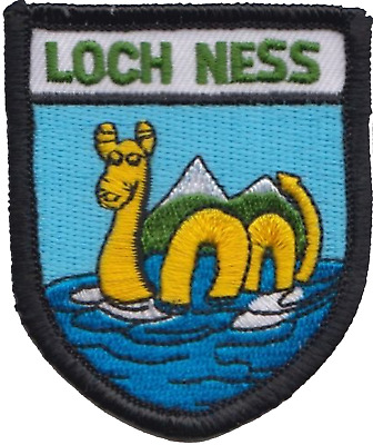 Loch Ness Monster Nessie Scotland Flag Embroidered Patch Badge