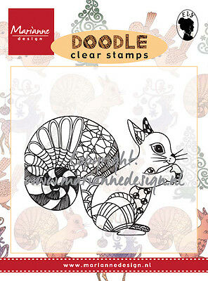 marianne design Doodle clear stamps squirrel ews2214