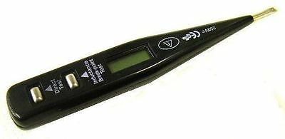 240 Volts LCD Digital Circuit Tester AC DC Electrical Tools Garage Equipment