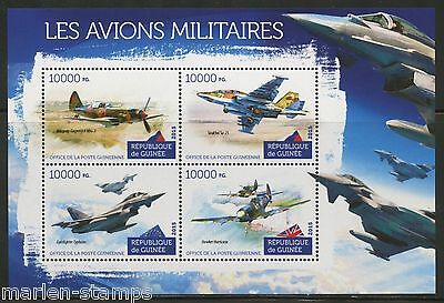 Guinea 2015 Military Planes Sheet   Mint Nh