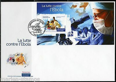 Guinea 2015 Fight Against Ebola  Souvenir Sheet First Day Cover