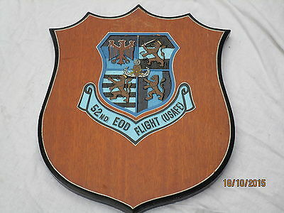 US Wappen,52nd EOD FLIGHT (USAFE)United States Air Force Europe ,Wall Plaque