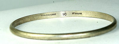 Vtg Colonial Williamsburg Ic Sterling Silver Childs Small Bangle Bracelet