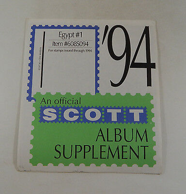 Scott Egypt #1 1994 Supplement 608S094 Stamp Album Pages