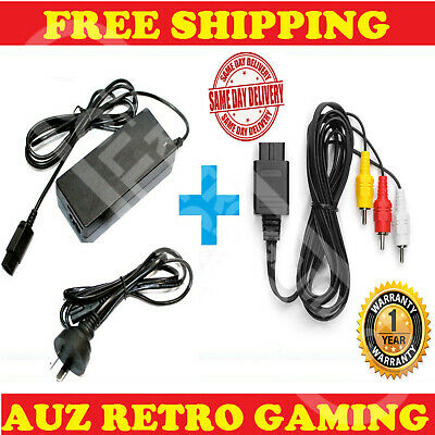 NEW Power Supply Cable Cord + PAL AV RCA TV Adapter For Nintendo GameCube