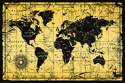 World Map-Old Style Poster Print, 36x24