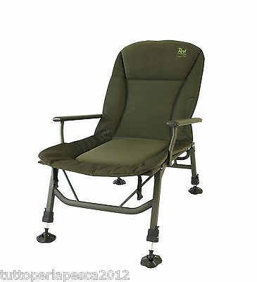 A0498 Rod Hutchinson Lounger Chair Carpfishing Angler Sedia Pesca Top Class Rig