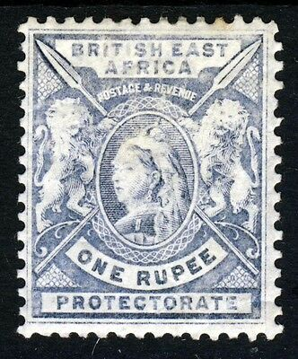 BRITISH EAST AFRICA KUT Queen Victoria 1896-1901 1 Rupee Dull Blue SG 75 MINT