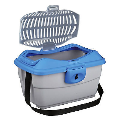 Trixie Mini-Capri Transport Box, 40 × 22 × 30 Cm, Light Grey/blue