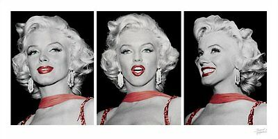 New Red Dress Tryptich Marilyn Monroe Print