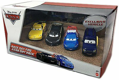 Disney Pixar Cars Race Day Fan 1:55 Scale 4 Car Die Cast Gift Pack Collectibles