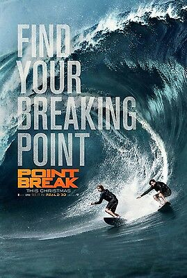 POINT BREAK (2015) SURFING STYLE Original Movie POSTER - Double Sided ADVANCE