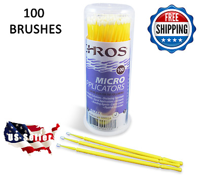Touch Up Paint Micro Brush - 100 Brushes - SMALL Tip - Premium Quality
