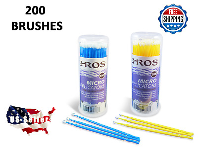 Touch Up Paint Micro Brush - 200 Brushes - SMALL & MEDIUM Tip - Premium Quality
