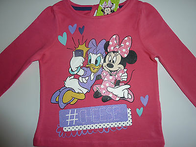 DISNEY Really Cute MINNIE and DAISY Pink Long Sleeve Top NWT