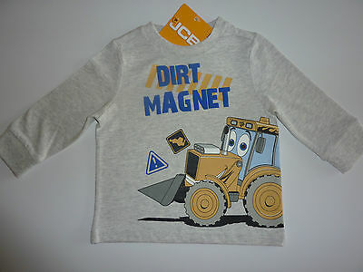 "JCB Joey ""DIRT MAGNET"" Grey Long Sleeve Top NWT"