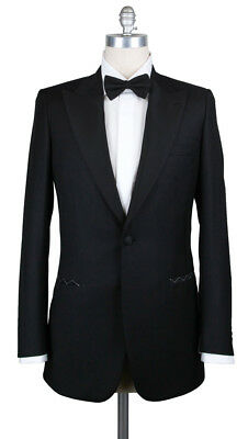 New $6000 Brioni Black Wool Tuxedo - (FLAIANO09K5821662R)