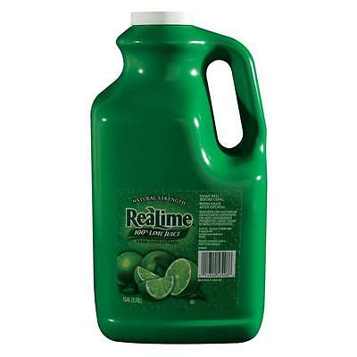 ReaLime 100% Lime Juice 1 Gallon Bottle - FAST SHIPPING !!