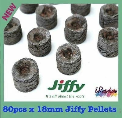 Jiffy-7 Pellets Round 18mm x 80 - For Veggie & Herbs Seeds, Plant Propagation