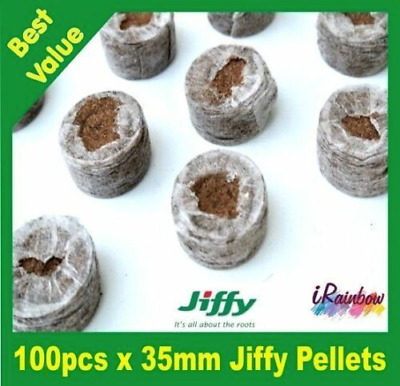 Jiffy-7 Coir Pellets Round 35mm x 140pcs - Great for Propagation & Seedling