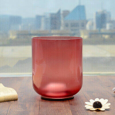 Red Colored C Root Chakra Frosted Quartz Crystal Singing Bowl 20 cm