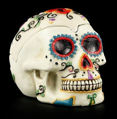 Weißer Totenkopf Aschenbecher - Day Of The Dead - Skull Ashtray Gothic