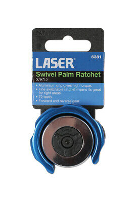 LASER TOOLS 6381 Swivel Palm Ratchet 3/8 Drive