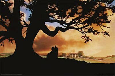 New Silhouette Gone With The Wind Poster