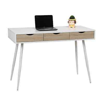 UCLA table - Desk metal table with MDF melamine top and 3 drawers.