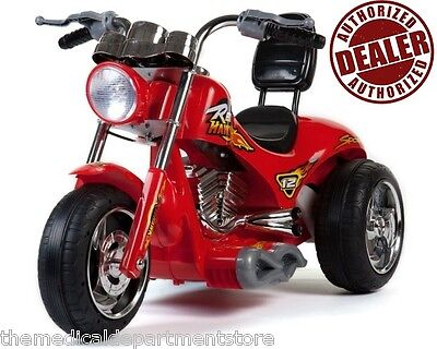 NEW -12V Battery Powered Kids Ride On Toy Chopper Motorcycle Car 3 Wheels - Red