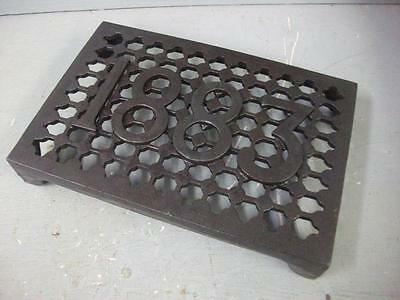 "Cast Iron air Brick Vent Cast Air vent   9.5"" x 6.5 "" - with a date 1883"