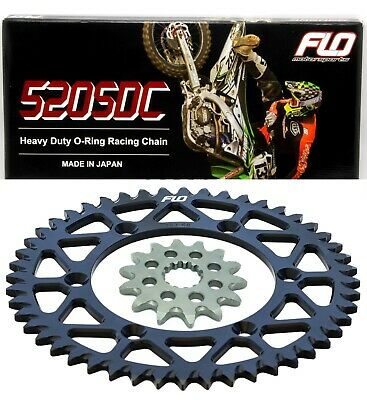 KTM Orange Rear Sprocket Combo Kit 50T/14T Flo Heavy Duty Oring Chain O-Ring Kit