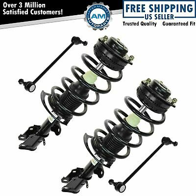 Shock Strut & Spring Assembly w/ Stabilizer Sway Bar Link Kit for Grand Caravan