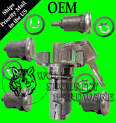 Chevy GMC G Van Full Size 79-95 Ignition & Door Lock Key Cylinder Set 2 GM Keys