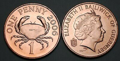 Guernsey 2006 1 Penny Coin Unc Nice BU KM# 89