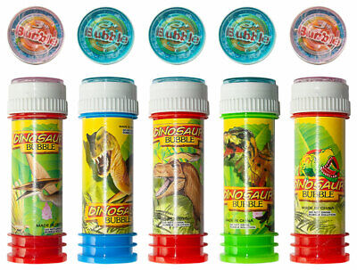36 x Seifenblasen mit Geduldspiel 60 ml Bursting Bubbles Dino Party Tombola