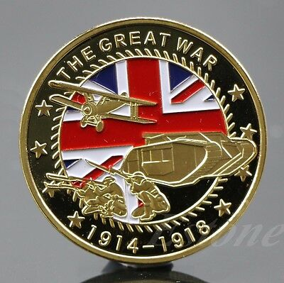 Gold Plated The Great War Commemorative Coin Art Collection Collectible New Gift