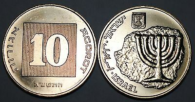 Israel 2013 10 Agorot BU From A Mint Roll UNC KM# 158