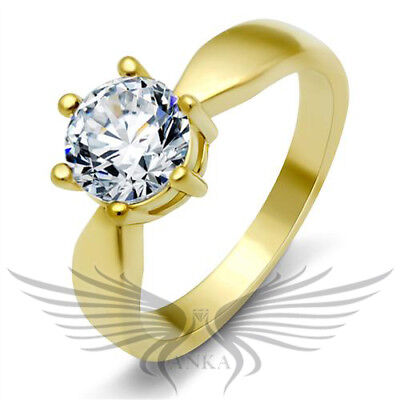 Brilliant Russian Simulated Diamond Engagement Ring 5 6 7 8 9 10 GL060