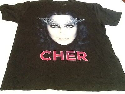 Cher T-shirt Dressed To Kill tour 2014 Eyelashes Bone Size Medium NEW