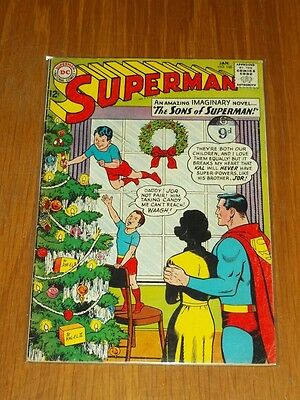 Superman #166 Vg+ (4.5) Dc Comics January 1964 Christmas